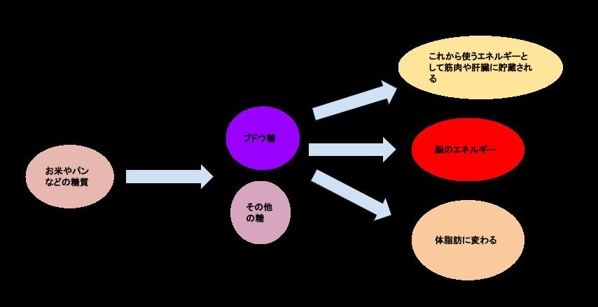 糖質の変換図